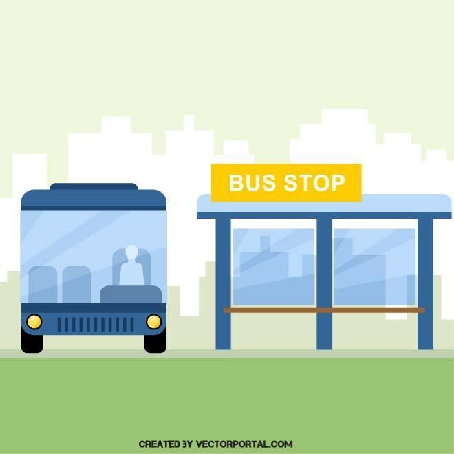 Bus Station Illustration Bus Station Bus Bus Stop