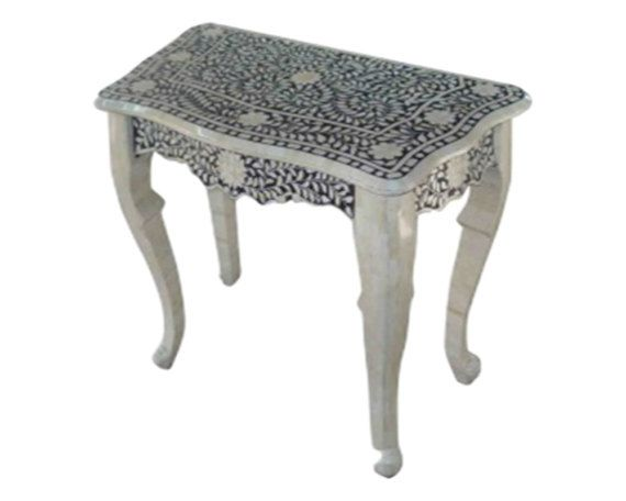 SHOP HOME DECOR NOW! Bone Inlay Furniture - Floral Console Striped