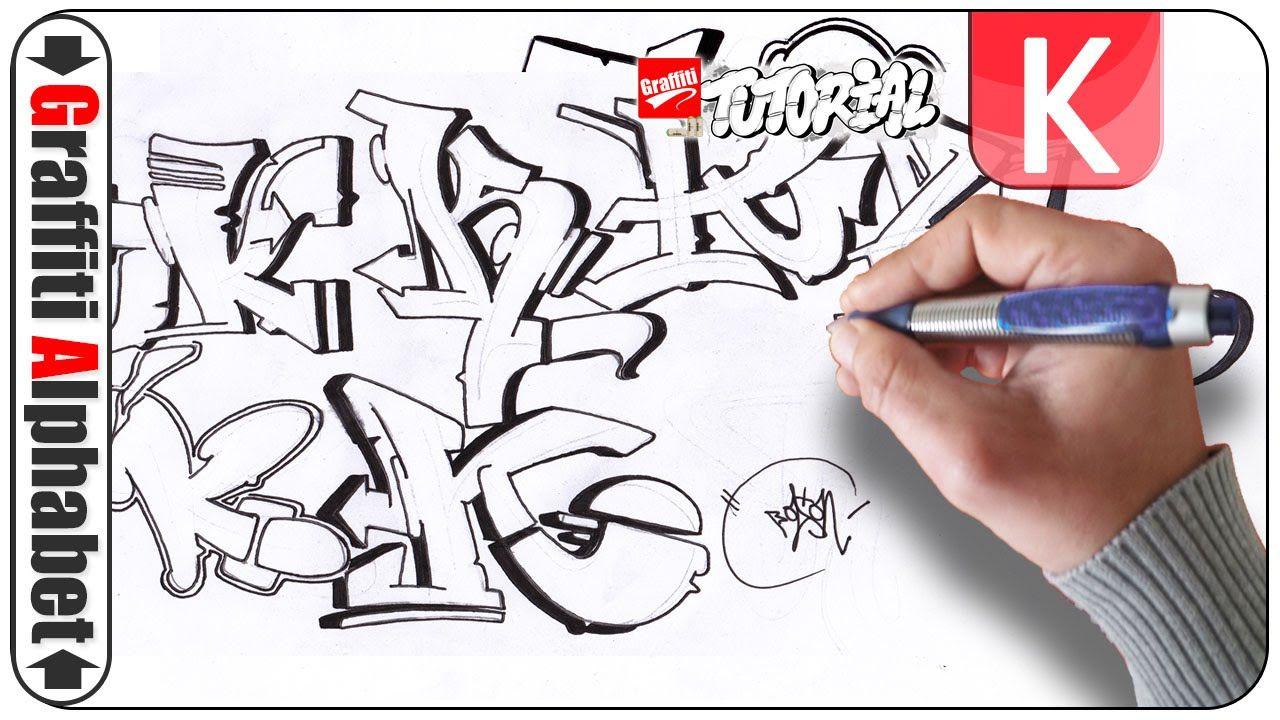 Graffiti Alphabet Buchstabe K Letra K Letter K