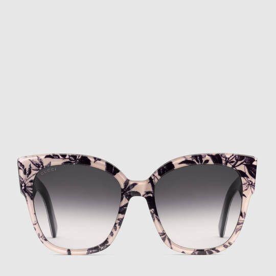 a6cb1181860 Gucci Square-frame acetate sunglasses with Web