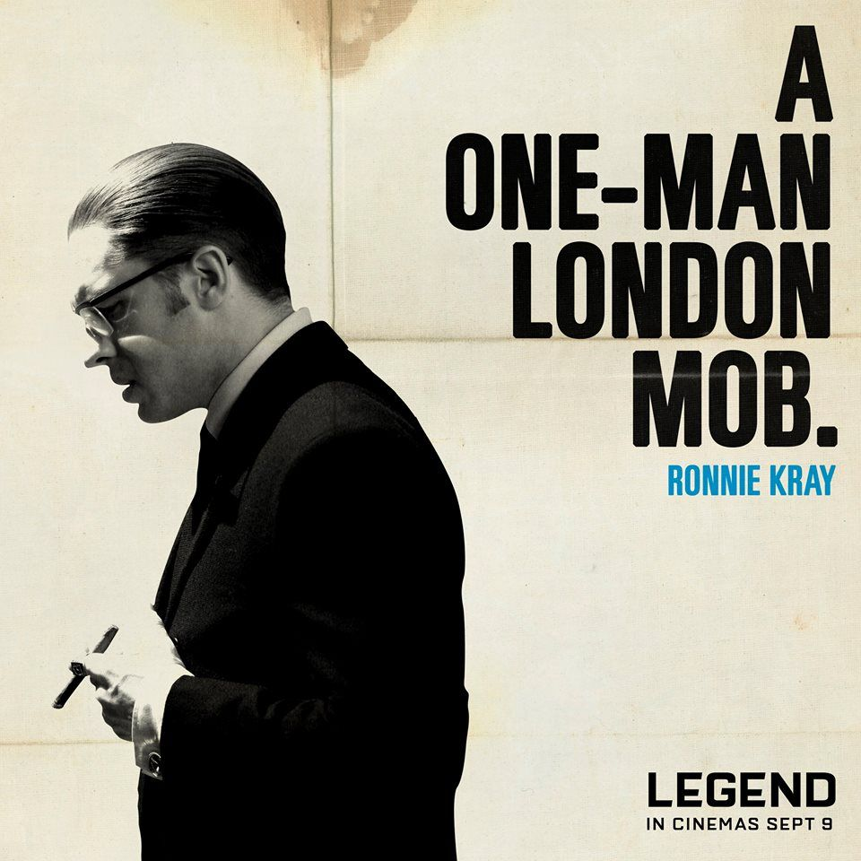 Legend Ronnie Kray A One Man London Mob Gangstermovie Gangsterflick Tom Hardy Legend Tom Hardy Movies Film Quotes