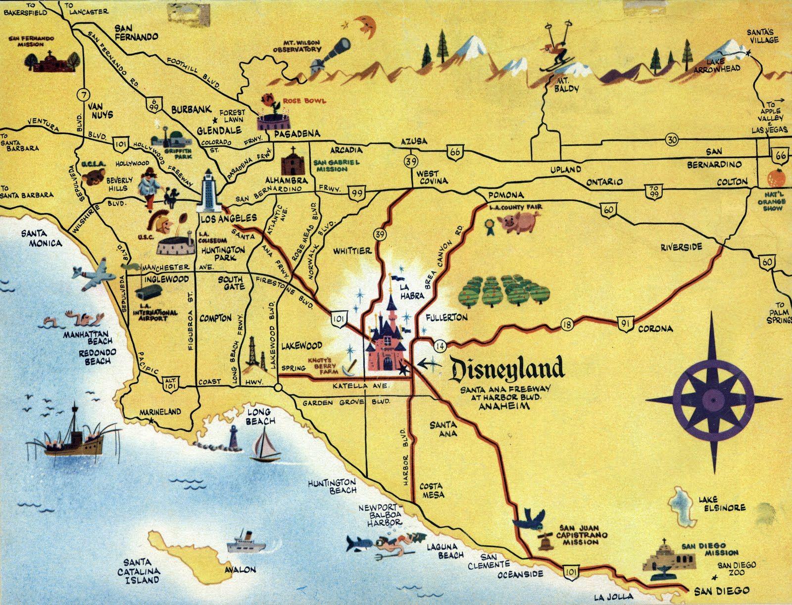 Disney Los Angeles Map.Los Angeles Angeles Of Anaheim California La History 10010