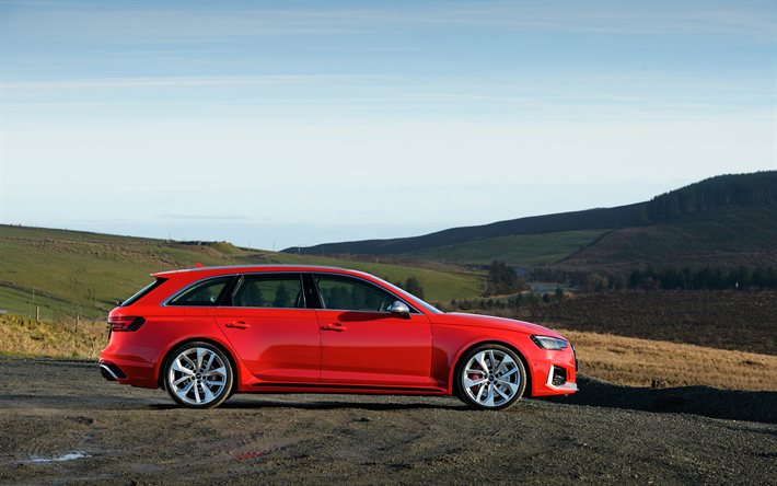 Download Wallpapers 4k Audi Rs4 Avant Wagons 2018 Cars New Rs4