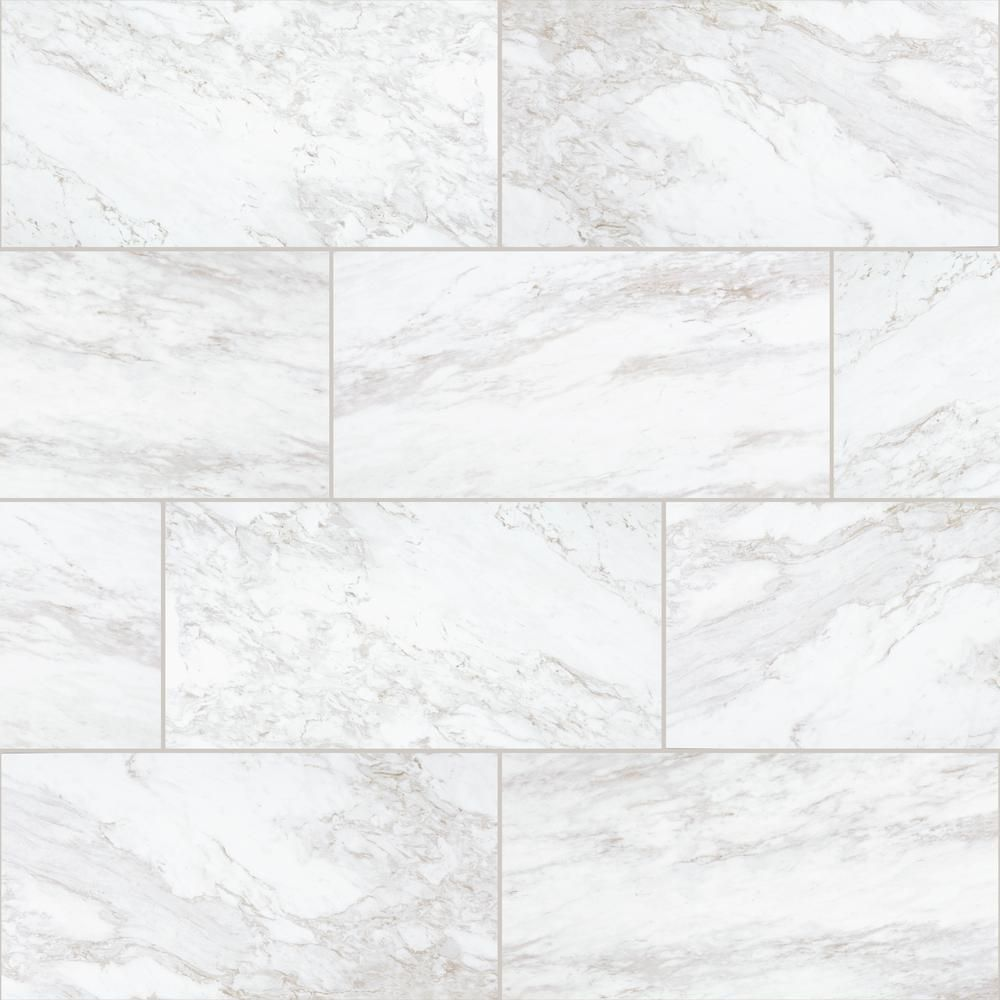 Daltile QuicTile 12 in. x 24 in. Enchanting Marble Matte