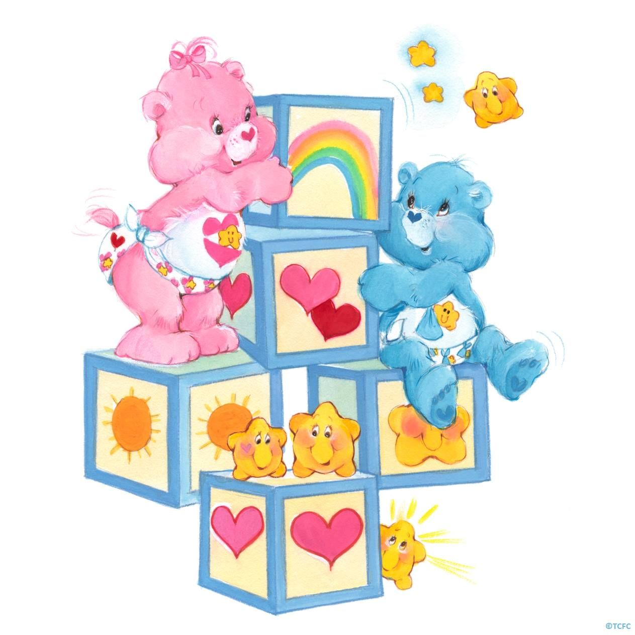 Care Bears Baby Hugs And Baby Tugs On Blocks With Images