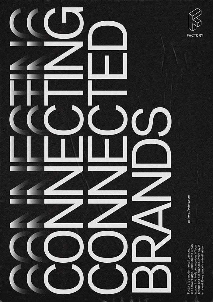 Factory Typography Inspiration Typography Information Design