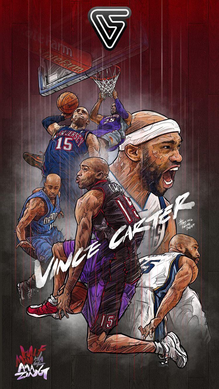 The Human Highlight Reel Vincecarter Nba Wallpapers Nba Basketball Art Basketball Art