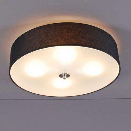 Deckenleuchte Drum 50 rund schwarz Schlichte und elegante - deckenlampen wohnzimmer modern
