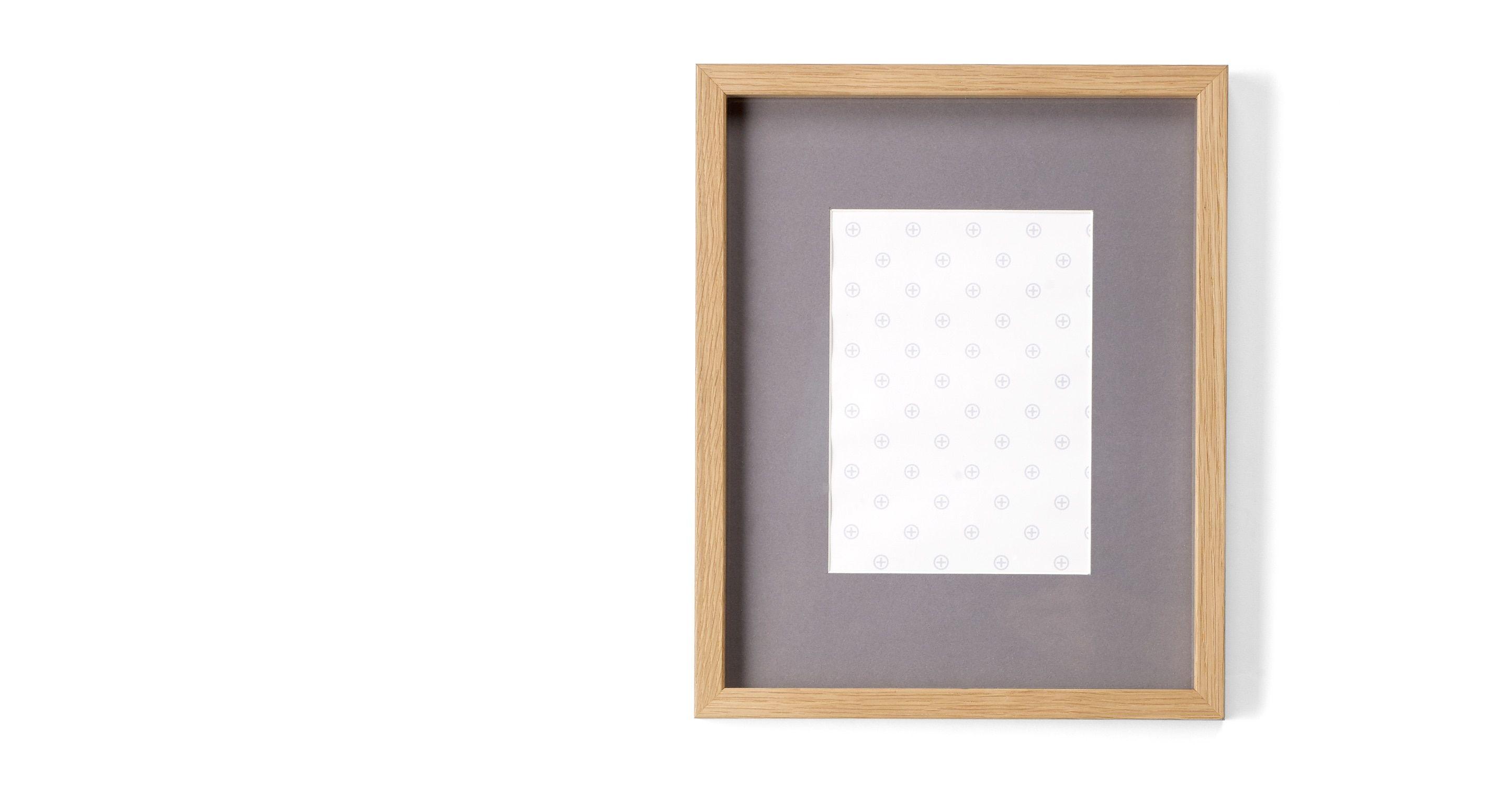 Portland Bilderrahmen 24 x 30 cm, Eiche mit grauem Passepartout (18 ...