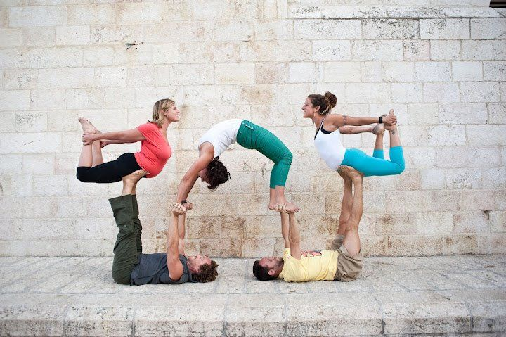Acro Yogis Are Awesome Acro Yoga Poses Acro Yoga Group Yoga