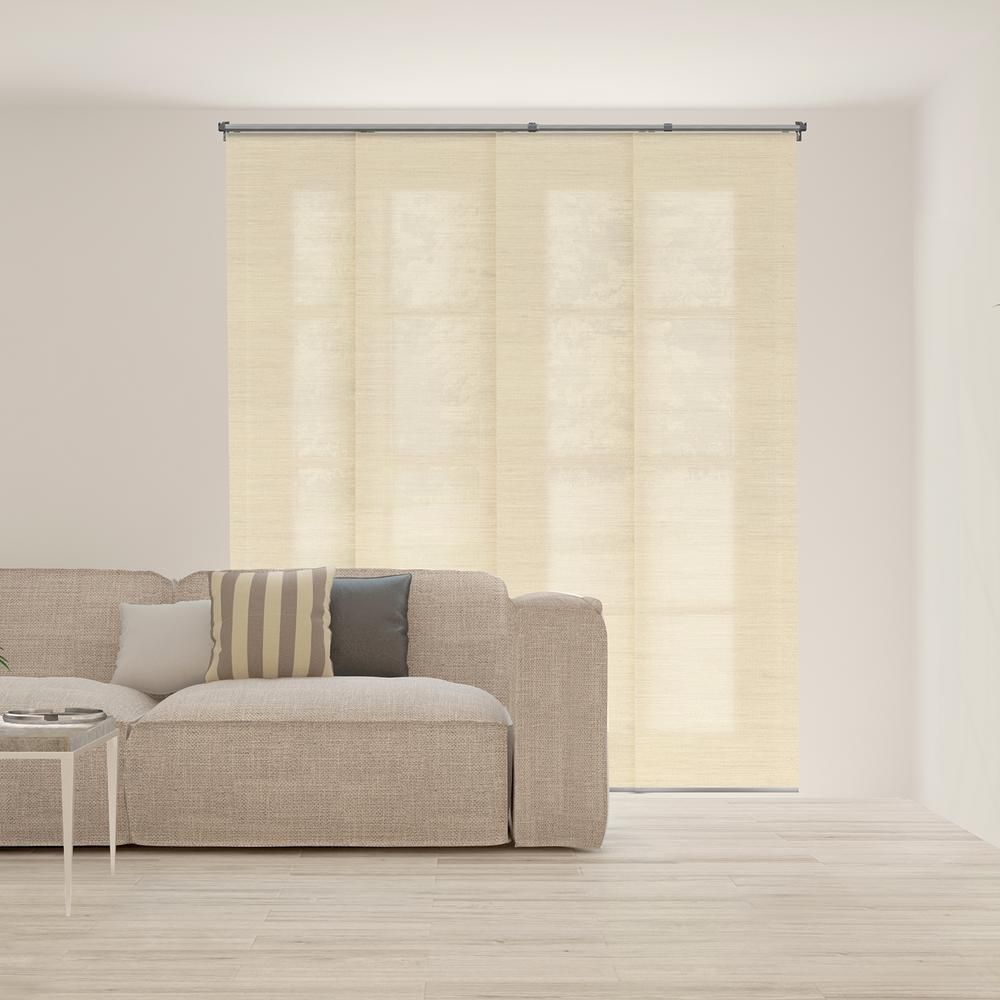 Chicology panel track blinds abaca alabaster polyester cordless