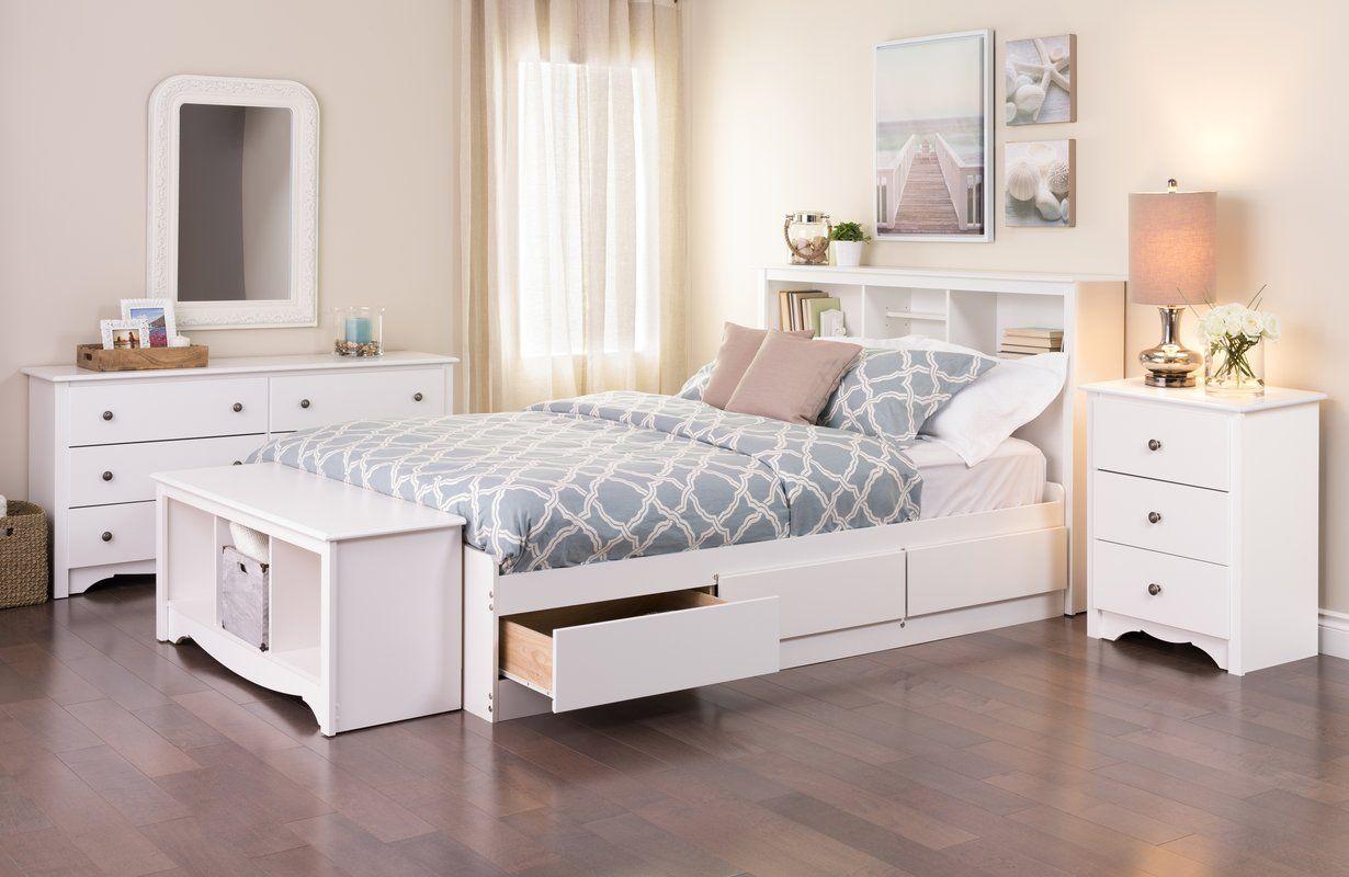 Edmont Bookcase Headboard White Bedroom Set Bedroom Design Small Bedroom