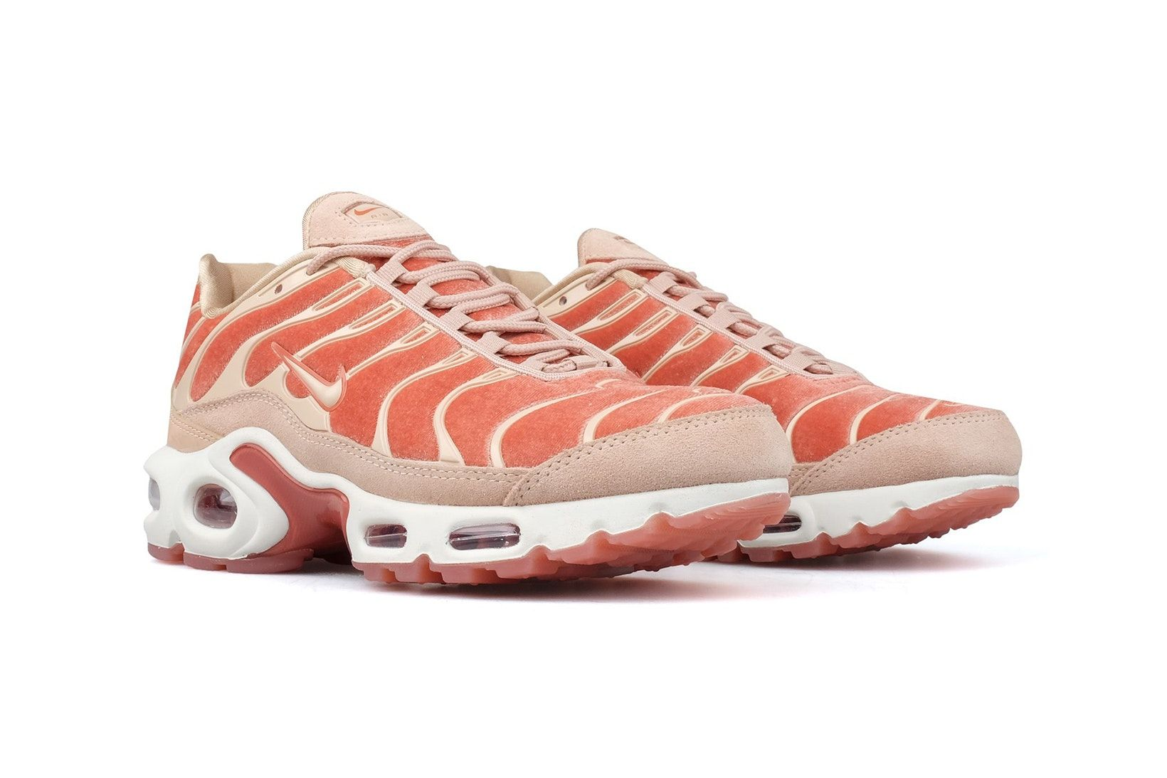 7e2987a507535b Nike Air Max Plus LX Dusty Peach Velvet pastel lux tn tuned retro 90s  womens sneakers where to buy bodega