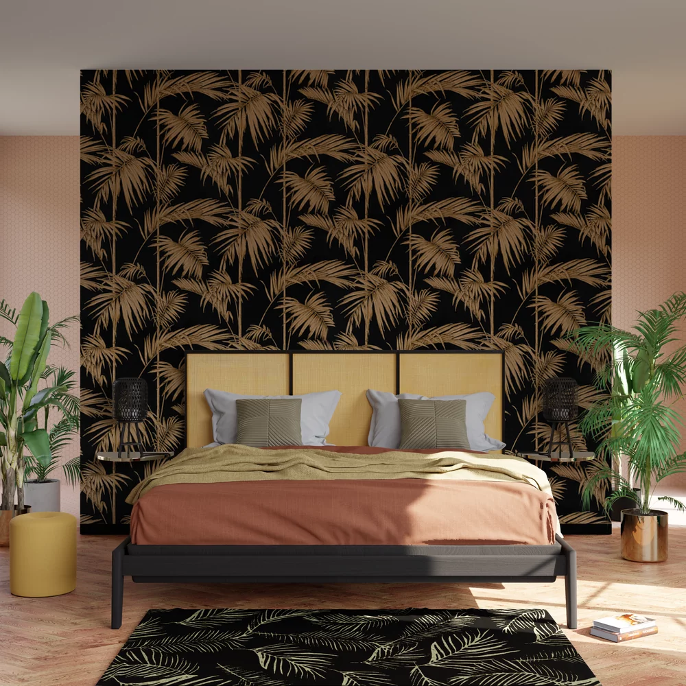 Papier Peint Intisse Islamorada Coloris Noir Avec Images Papier Peint Papier Peint Cuisine Decor Salon Maison