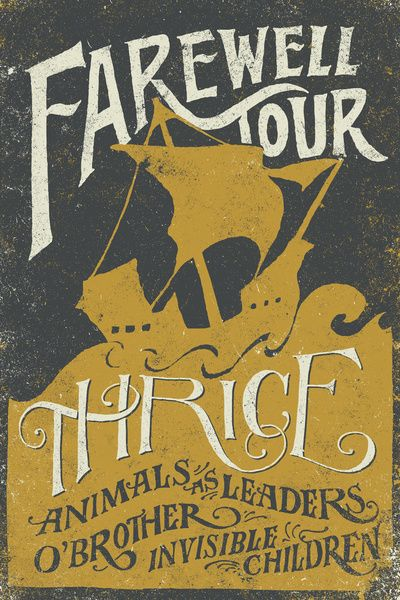 Joncontino The Poster I Designed For Thrice S Farewell Tour Is Available Now In A Limited Colorway I Won T H Concert Poster Design Gig Posters Poster Design