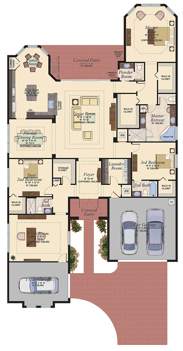 Floorplan The Belize At Canyon Trails Boynton Beach