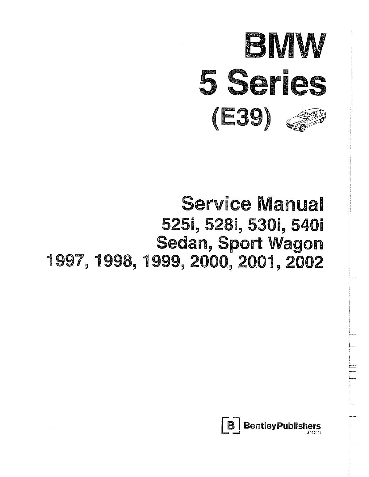 Bmw 525 1997 2002 Workshop Manual E39 Pdf Bmw 525 Bmw Workshop