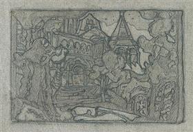 Castle 's nachts - Nicholas Roerich