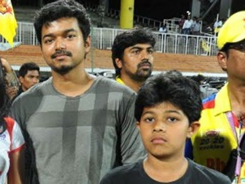 Vijay family Photos with Son Jason Sanjay Daughter Divya and
