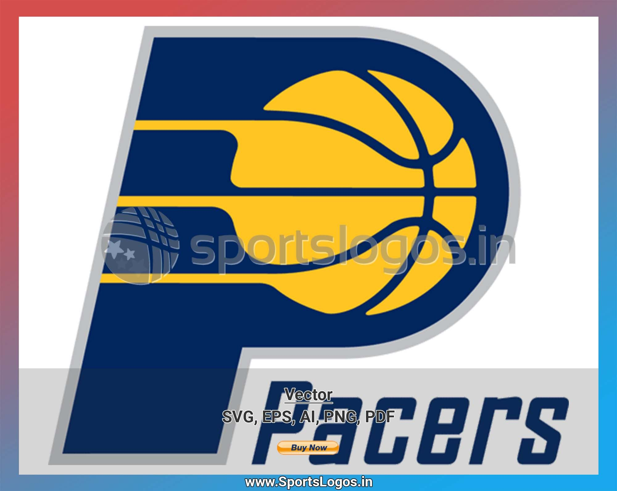 Indiana Pacers Basketball Sports Vector SVG Logo in 5