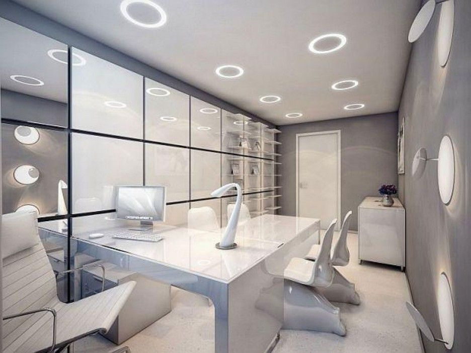 Interior : Fabulous Futuristic Interior Design Singapore With White Rug  Floor Also Wall Light And Office