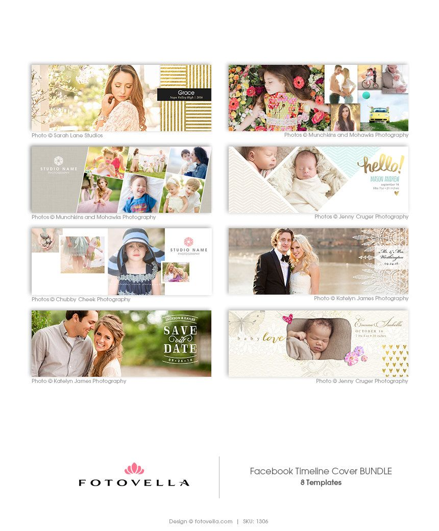 Facebook Timeline Cover Templates For Photographers Wedding Save The Date Birth Announ Facebook Cover Template Photography Marketing Baby Girl Announcement