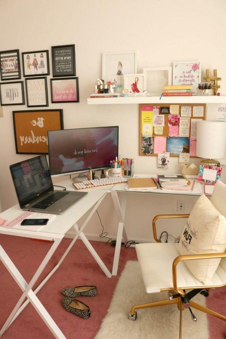 48 Elegant Office Decor Ideas For Small Apartment Elegant Office Decor Bedroom Decor Diy On A Budget Home Office Decor