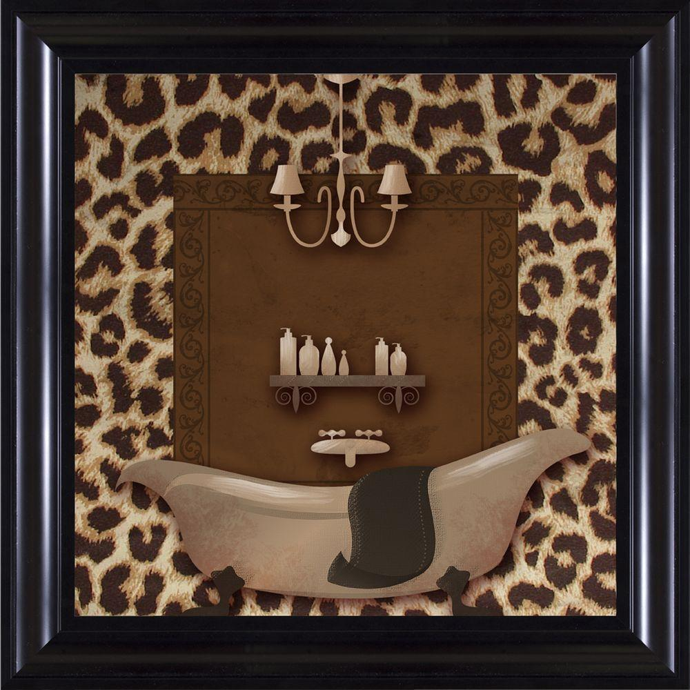 Ptm Images 15 1 4 In X 15 1 4 In Leopard Bath A Framed Wall Art 6 2137a The Home Depot In 2021 Animal Print Bathroom Bath Wall Art Animal Print Decor