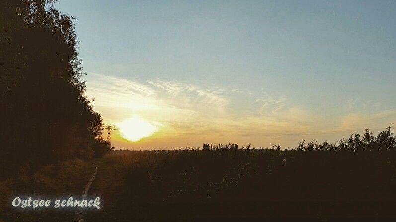 Ein wunderschöner #Herbsttag geht zu Ende. Wir sehen uns morgen wieder liebe #Sonne ;-) #herbst #herbst2015 #rostock #natur #nature #Sonnenuntergang