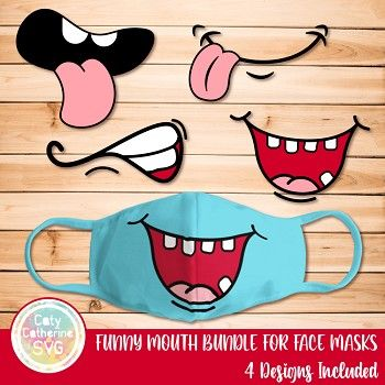 Photo of CATYCATHERINE0000866-Funny Mouth Bundle for Face Masks 4 Des
