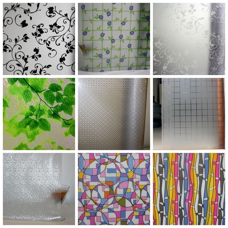Privacy Window Static Cling Film Treatments Decorative Color