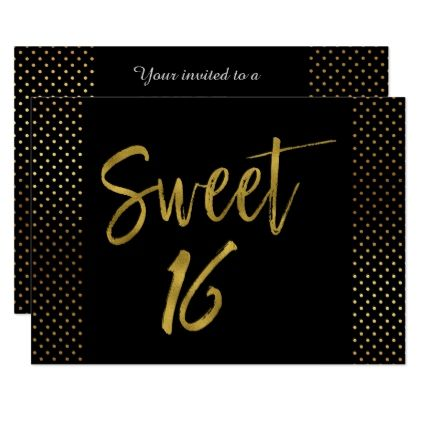 Sweet 16 Gold Foil Birthday Invitation