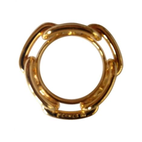 29d60104fddb Anneau de foulard chaîne d ancre Hermès   doré   Plaqué or - métal doré