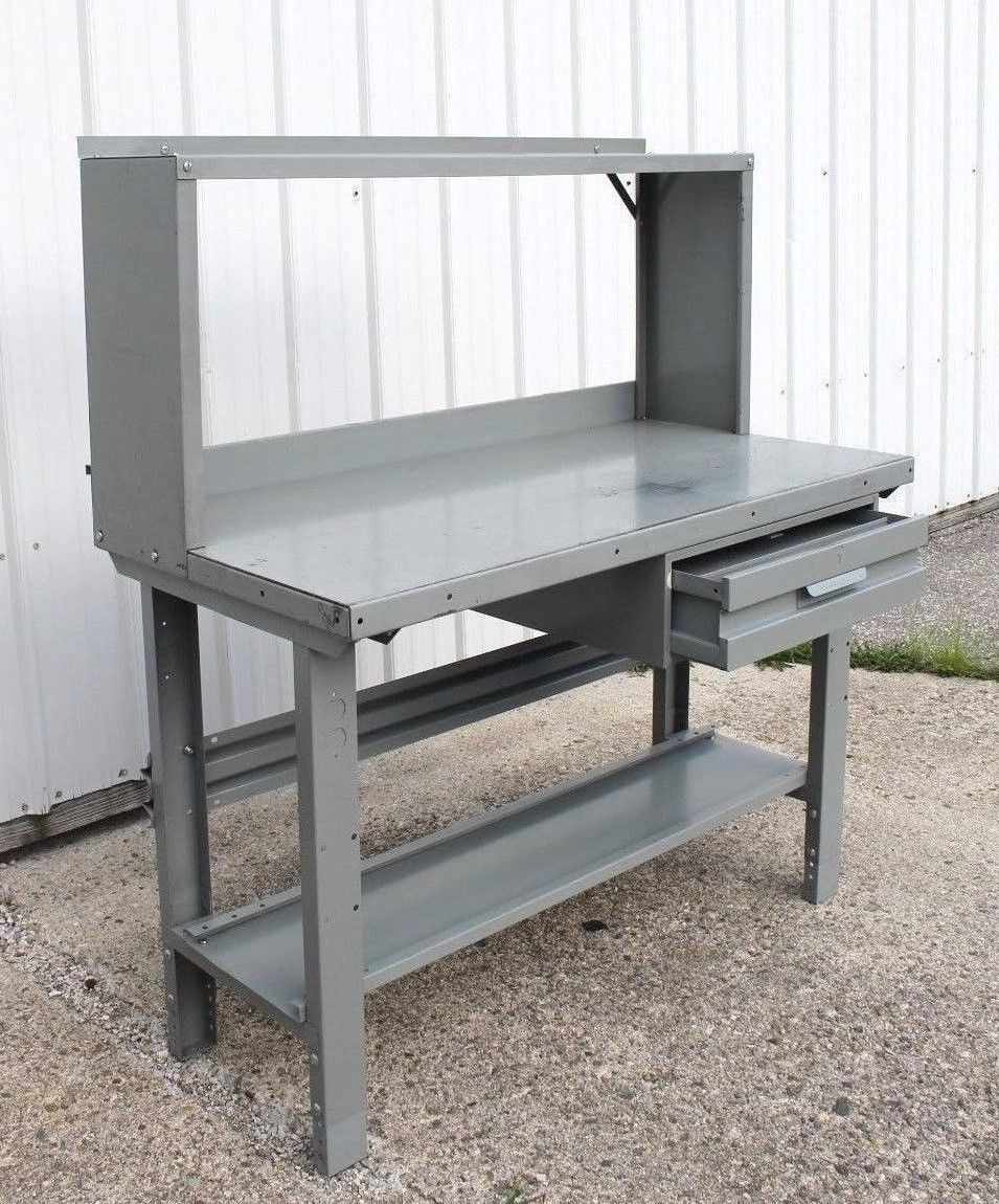 Industrial Workbench Steel Penco Vintage Work Bench Station Bar Desk Student Ideas For The