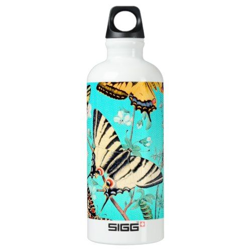 #Butterfly Blue Mix Aluminum Water Bottle - #travel #accessories