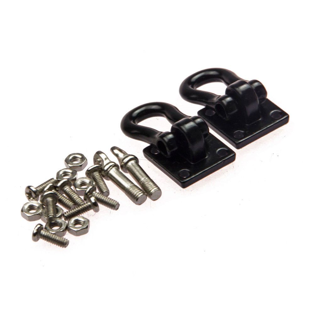 Alloy 1:10 Scale Hooks Hitch Tow Shackles w// Mounting Bracket for RC Crawler