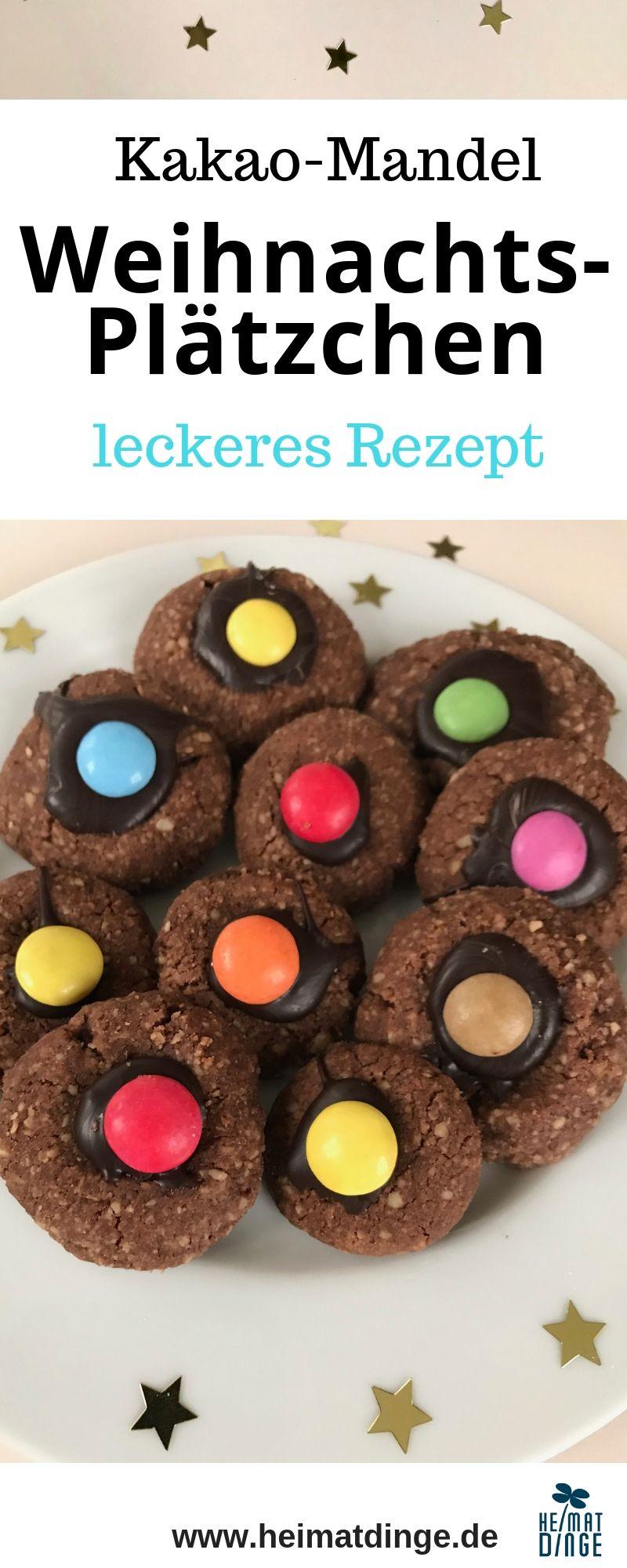 Kakao-Mandel-Plätzchen: Rezept für himmlische Weihnachtsplätzchen