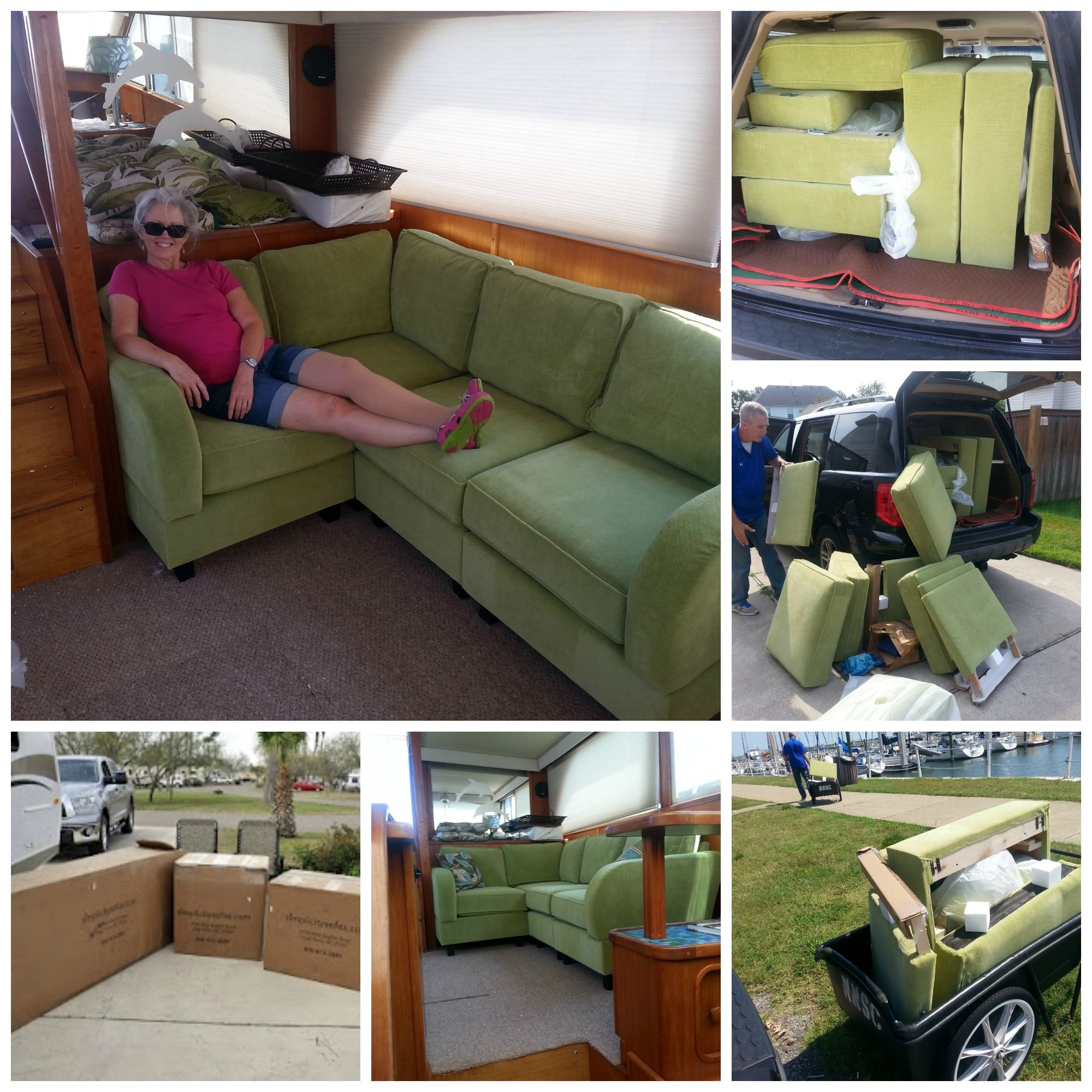 Sectional For A Boat Furniture For Small Tight Spaces Narrowdoor Tightspace Smallspace Simplicity Sofas Small Apartment Sofa Boat Furniture