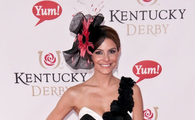 Maria Menounos wearing a #KentuckyDerby hat. www.theblush.com