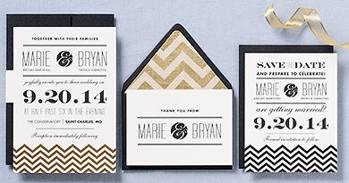 Amazing Wedding Invitation Ideas from Paper Source. I highly recommend this site for anyone who is interested in creating their own invitations - they even offer how-to classes!