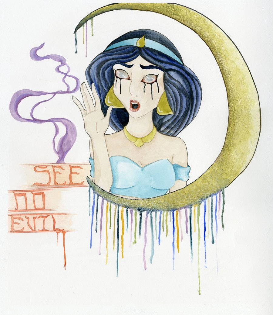 See No Evil: Princess Jasmine by CrunchyCrystal.deviantart.com on @DeviantArt