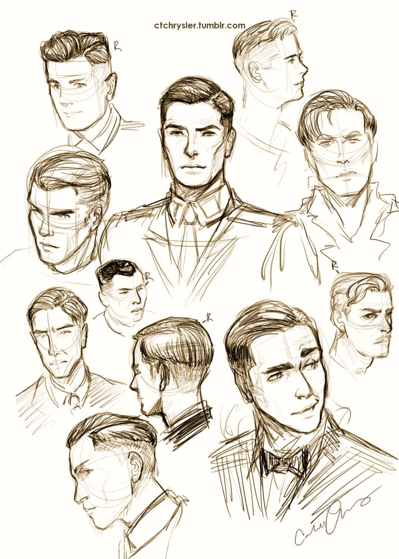 Male Faces Guy Drawing Character Design Art Reference