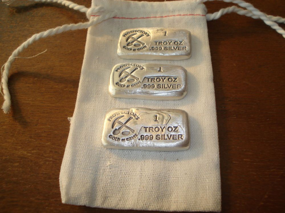 3 Silver Bars 1 Troy Oz 999 Silver Old Style Bar Rare Bidding On 3 Ozs Total With Images Silver Bars Silver Old Fashioned