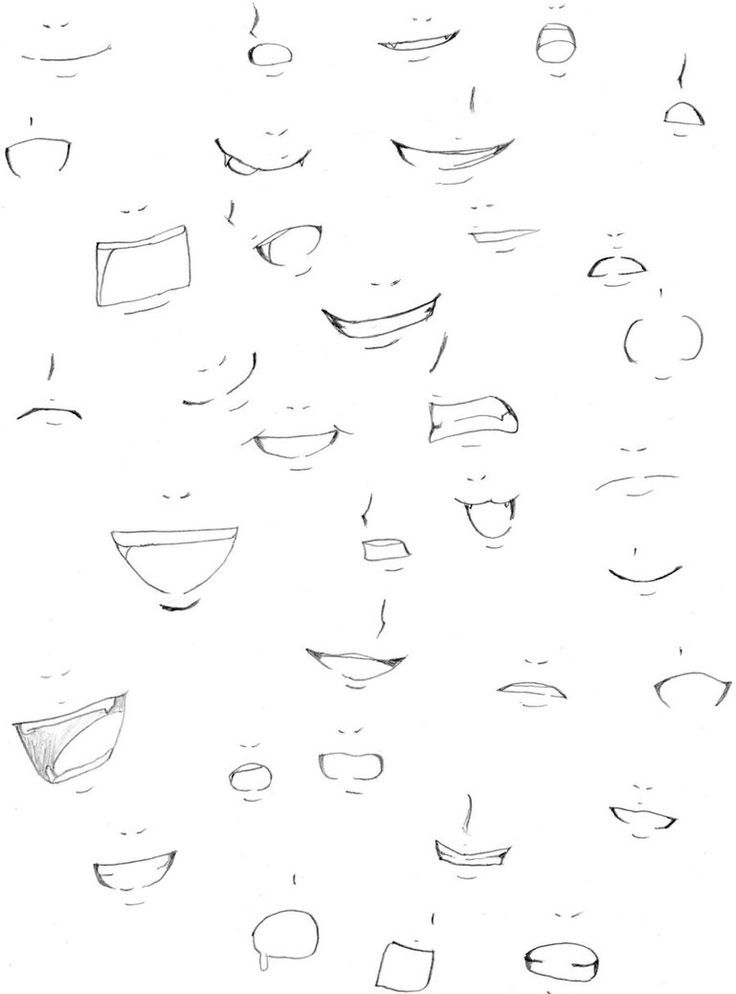 Mouths Anime Mouth Drawing Manga Drawing Tutorials Manga Tutorial