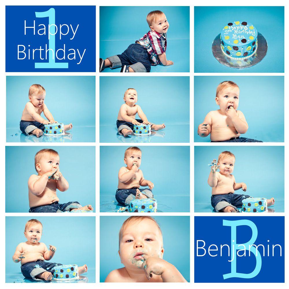 First Birthday Cake Smash Orange County Portrait Photographer