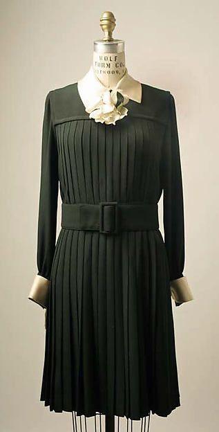 Saint Laurent  Afternoon dress - French 1968  Silk