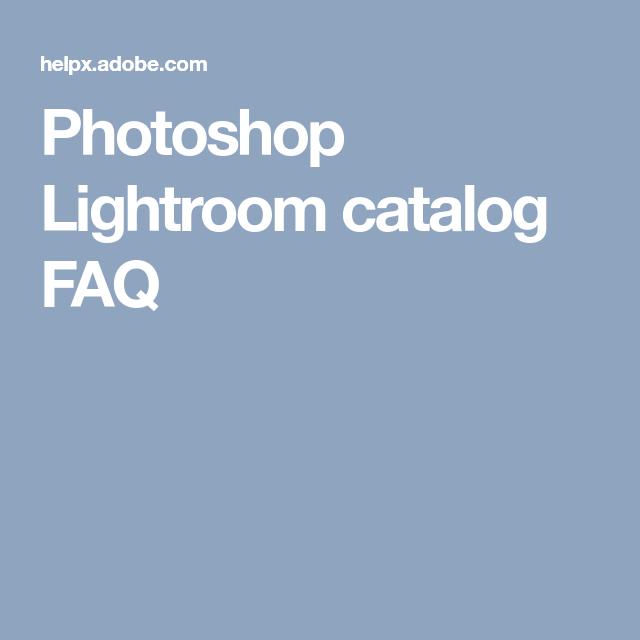 Adobe lightroom catalog