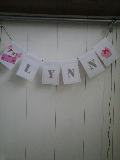 Handmade Banner Verjaardag Slinger Met Naam Banners Pinterest