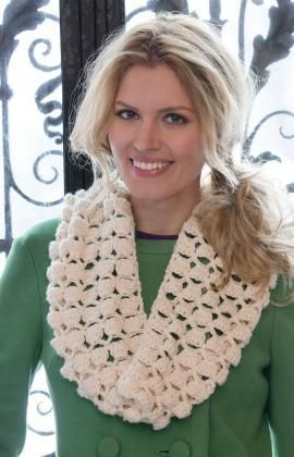 Infinite Shells Cowl Free Crochet Pattern from Red Heart Yarns