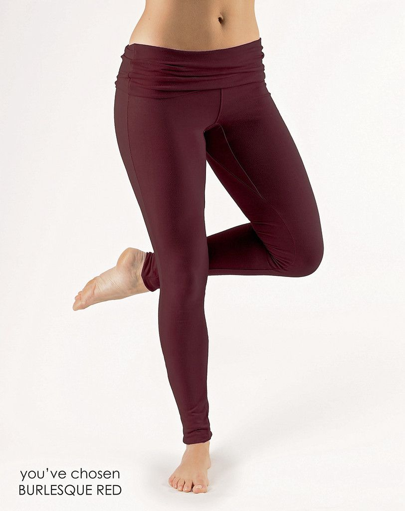 Yoga Clothes From Gossypium Organic Cotton Fold Over Leggings Gossypium Natural Organic Yoga Clothes Crafted In The Uk Pantaloni